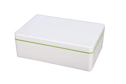 ajaa! Bio Aufbewahrungsbox aus nachwachsenden Rohstoffen ohne Weichmacher, plastikfrei, BPA frei (0.9l, lime)