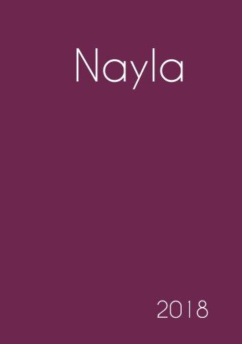 2018: Namenskalender 2018 - Nayla - DIN A5 - eine Woche pro Doppelseite