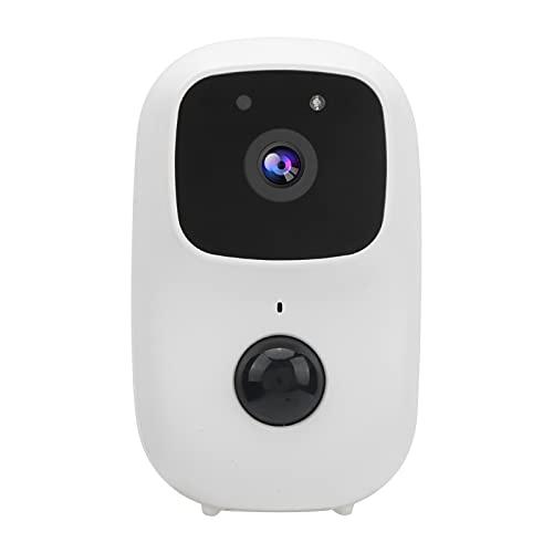 Allsor Timbre con Video WiFi Timbre Inalámbrico 1080P Cámara de Video Timbre con Cámara Visible de Detección de Movimiento PIR IP65 Impermeable a Prueba de Polvo Ángulo de Visión de 170°