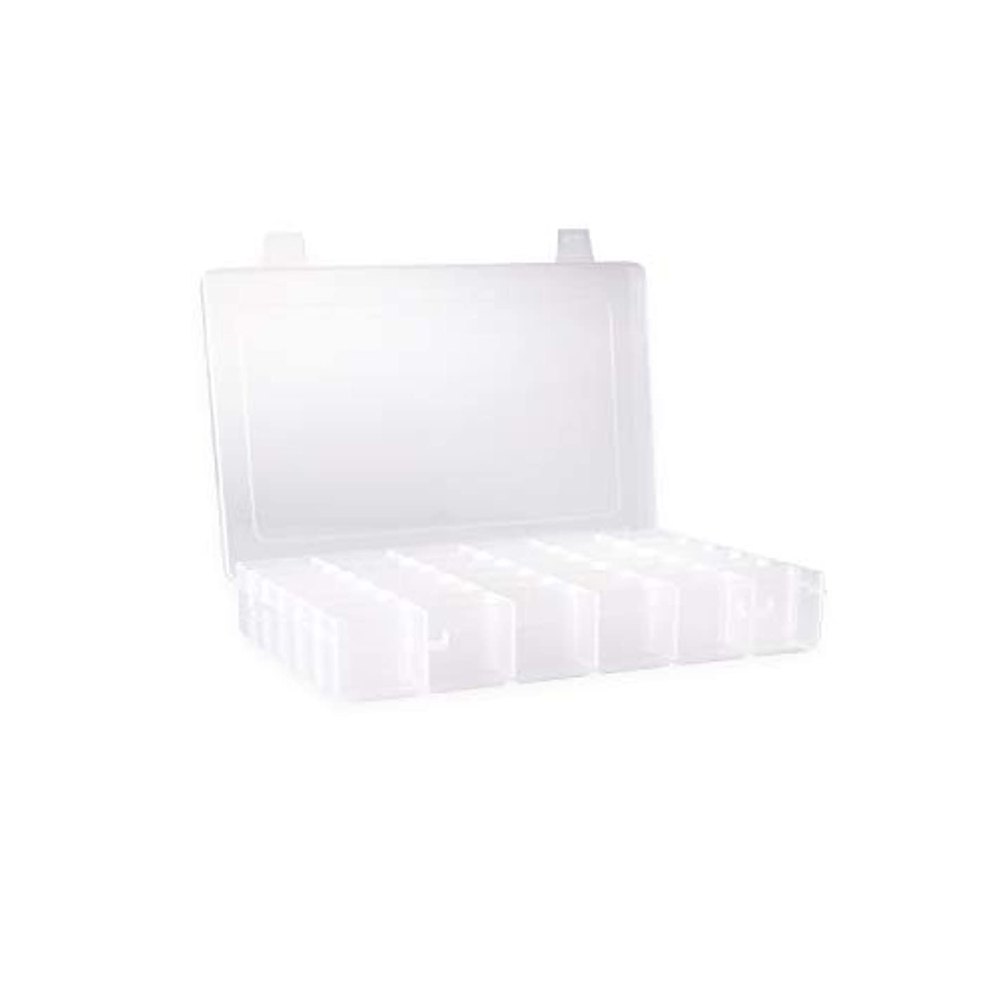 Clear Plastic Jewelry Box Organizers Storage Container With Adjustable Dividers 36 Grids