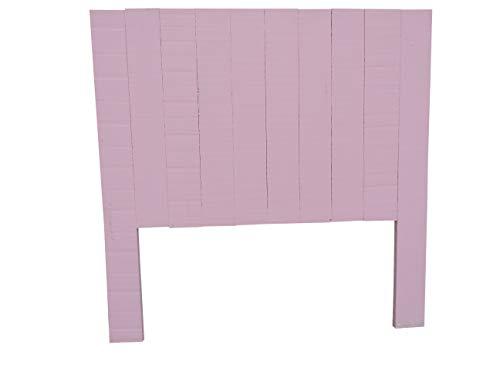 Dydaya Cabecero de Cama de Madera Color Rosa - Válido para Camas Individual de 105 cm, 100 cm, 90 cm y 80 cm.