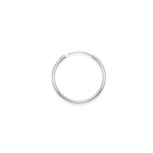 Men's Sterling Silver SINGLE Hoop Earring - Size: 18mm x 1.2mm (SIZE OF 5p COIN). MUCH SMALLER THAN SHOWN. Gift Boxed.6243