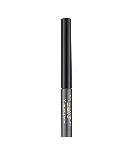 Max Factor Colour X-Pert Waterproof Eyeliner Metallic Anthracite 02 – Flüssig Eyeliner Grau – Für das perfekte Cat Eye – 1 x 2 ml