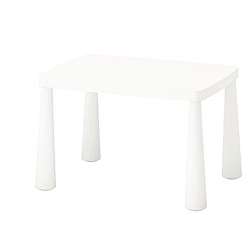 Reeamy-Home Table pour Enfants Table for Les Enfants de la Maternelle d'apprentissage bébé Table Toy Table, Respectueux de l'environnement en Plastique (Color : White, Size : 48x55x77cm)