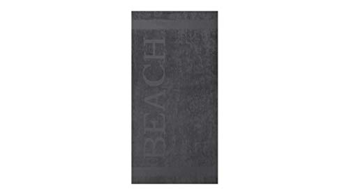 Lucca Strandtuch, Frottee, Grau, 100x200 cm, 55413