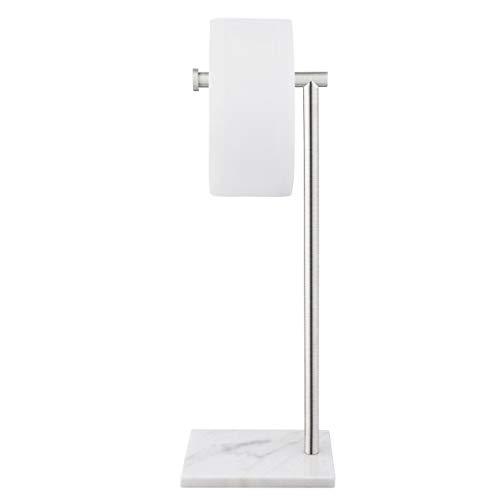 KES WC Toilettenpapierhalter Freistehend Klopapierhalter Edelstahl SUS304 Klorollenhalter Ständer Toilettenrollenhalter Stehend Marmor Basis Rollenhalter Gebürstet, BPH285S1-2