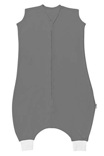Schlummersack Schlafsack mit Füssen ungefüttert für den Sommer in 0.5 Tog aus Bambus-Baumwolle - Anthrazit - 100 cm