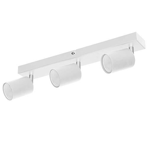 ORNO DOA SP 10 Strahler Deckenleuchte und Wandleuchte Spot GU10 max.3x 35 W, IP20 (Weiß)(Glühbirne separat gekauft)