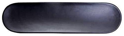 LBBZJM Dinnerware Serving Plates Ceramic Bowl Creative Tableware Hotel Restaurant Sushi Plate Matt Black And White Oval Ceramic Pieces (Color : Black, Size : 11.75 inch)