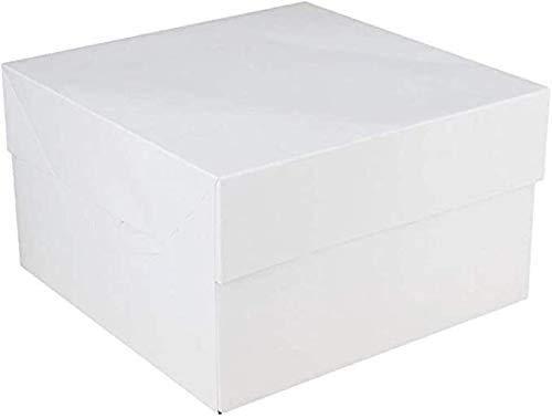 FunCakes - 25 x Caja Blanca para Transportar Tartas (28X28X15CM)
