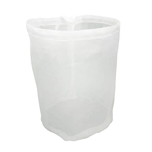 2 sacchetti riutilizzabili in nylon a rete fine per filtrare gli alimenti, sacchetti filtranti per birra, per latte noci, succhi di frutta, yogurt, birra casalinga, luppolo