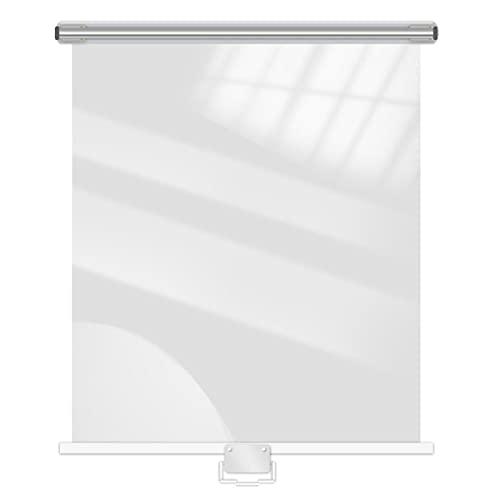 Persianas Enrollables La Sombra de Rodillo de plástico Transparente para congeladores Muestra supermercados, Pantalla Impermeable a Prueba de Polvo Enrollable con asa, persiana a Prueba de Aceite