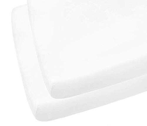 2 X Cot Bed Fitted Sheets, 70 x 140 cm - White