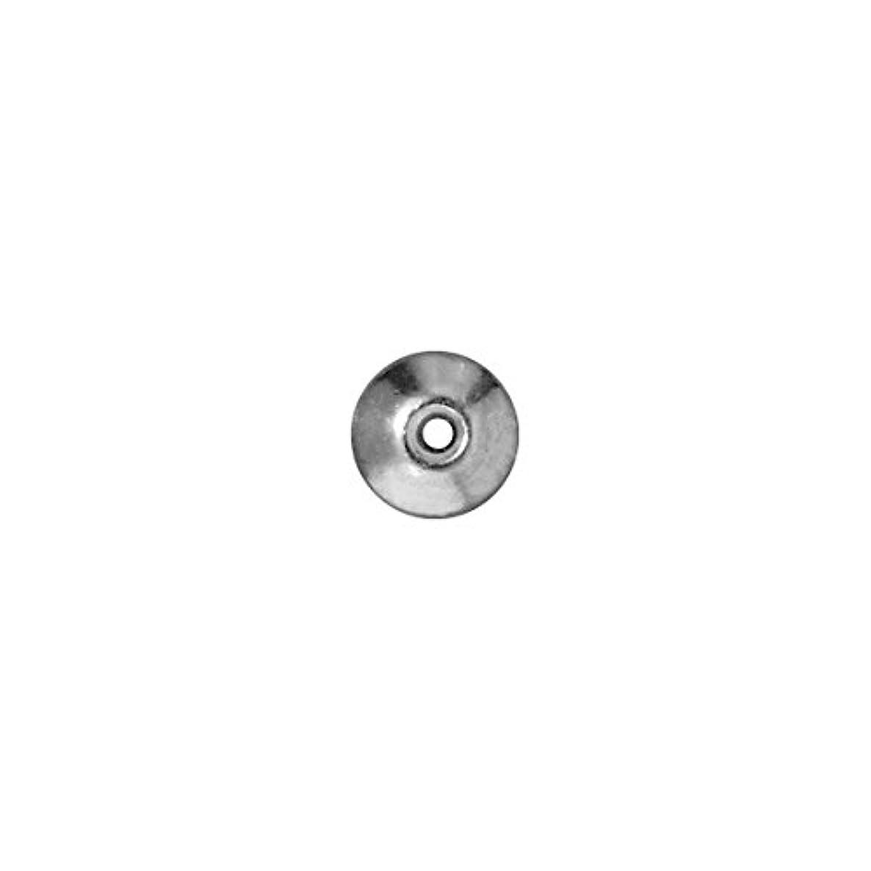 TierraCast Bead Aligner, 8mm, Bright Rhodium