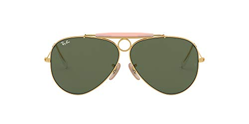 Ray-Ban Aviator, Occhiali da Sole Unisex Adulto, Oro (001 Gold/Green Classic), 58 mm