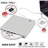 VSVABEFV External CD DVD Drive USB3.0 Portable DVD/CD ROM Superdrive +/- RW Rewriter/Writer/Burner/Player with High Speed Data for Laptop/Desktop/Mac OSX/Windows7/8/10/XP