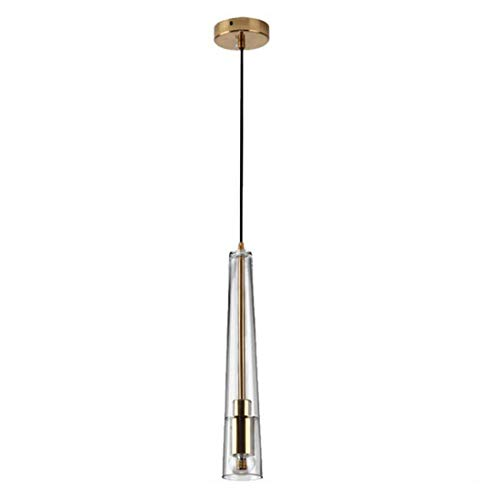 YUYAXCL Creative hanglamp dimbare LED plafondlamp, hanglamp voor woonkamer, bar, eetkamer plafondlamp in exclusieve cilinder design stijl, zwart