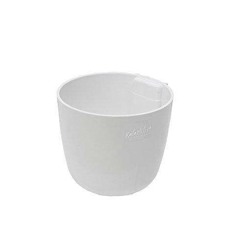KalaMitica 65110-900-001 Cache-pot Magnétique, Résine Abs, Couleur Blanc, Diamètre 10 cm