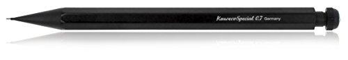Kaweco SPECIAL Druckbleistift 0.7 I Minenbleistift aus hochwertigem Aluminium in oktogonalem Acht Kant Format I Druckminenbleistift 14 cm I Druck-Bleistift nachfüllbar Schwarz mit Radiergummi