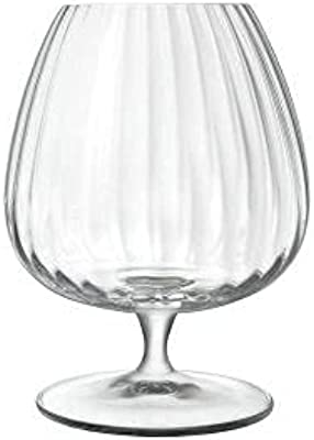 Luigi Bormioli 23-6513192 New Optica Cognac Wine Glass 4 Pack, 465 ml Capacity