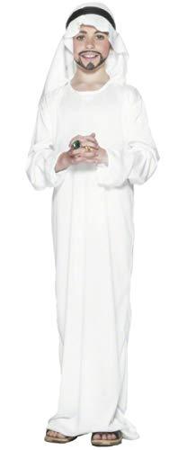 Kids Boys White Arabian Nights Middle Eastern Ali Baba Sheikh Shepherd Christmas Nativity Fancy Dress Costume Outfit (10-12 years)