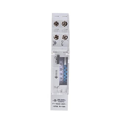 YUSHU - Temporizador mecánico programable de 24 horas, relé de interruptor 110-240V 16A de interruptor de tiempo, utilizado para lámparas de calle, luces de escalera, riego de jardín