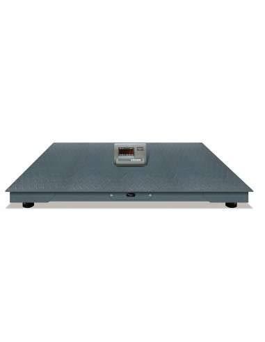AgoraDirect - Báscula Industrial De Plataforma 3000kg/500g, Pantalla LCD Digital, Plataforma De Acero Tratada Térmicamente 120x120cm, Balanza Industrial De Suelo