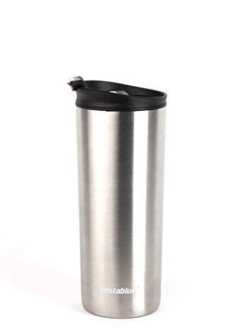 Costablue Vacuum Insulated Stainless Steel Travel mug 16 Oz Easy to clean and leak proof lid Stainless Steel