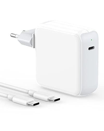 IFEART Cargador USB C 65W Compatible con MacBook Pro 13/15/ 16 Pulgadas, MacBook Air 2020/2019/ 2018, iPad Pro 12,9/11 Pulgadas, HP, Lenovo, Cargador Rápido, Cable USB C a C de 2M