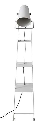 Alfred Lampada a stelo bianca, realizzata a mano in Italia, design moderno, lampada E27, Metallo, bianco, E27 52.00W