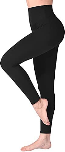 MCA Leggings Donna Fitness, Pantaloni Sportivi Yoga Vita Alta Controllo della Pancia Opaco Elastici Morbido (46 L IT Donna 44EU, Nero, l)