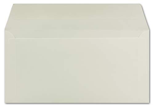 100 DIN Lang Briefumschläge Creme 22,0 x 11,0 cm 90 g/m² Haftklebung Post-Umschläge ohne Fenster ideal für Weihnachten Grußkarten Einladungen von Ihrem Glüxx-Agent