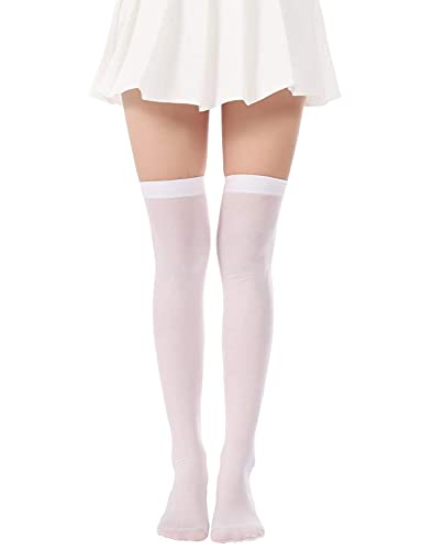 Lastclream Women Halloween Socks Over Knee Thigh High Opaque Stockings Costume Cosplay Knee-High Socking for Girls