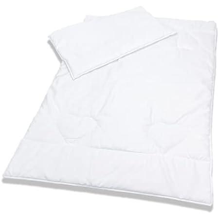 Couette et oreiller hypoallergéniques - 135x 100cm - Pour lit de bébé