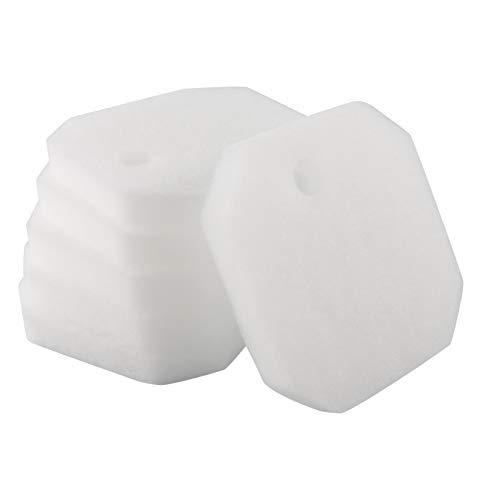 LTWHOME Weißer Feiner Filterschwamm Passend für Eheim 2616225 Professional 2222/2324 und Experience 150/250/250T (6 Stück)