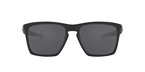 Oakley Men's OO9341 Sliver XL Rectangular Sunglasses, Matte Black/Polarized Grey, 57 mm