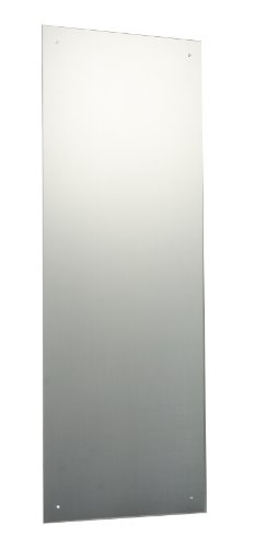 120 x 45cm Rectangle Bathroom Mirror with Drilled Holes & Chrome Cap Wall Hanging Fixing Kit