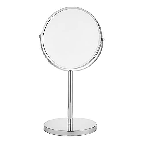 FOMIYES Espejo de maquillaje redondo 10 aumentos de doble cara espejo de aumento giratorio espejo de vanidad decoración de escritorio para el hogar suministros de oficina