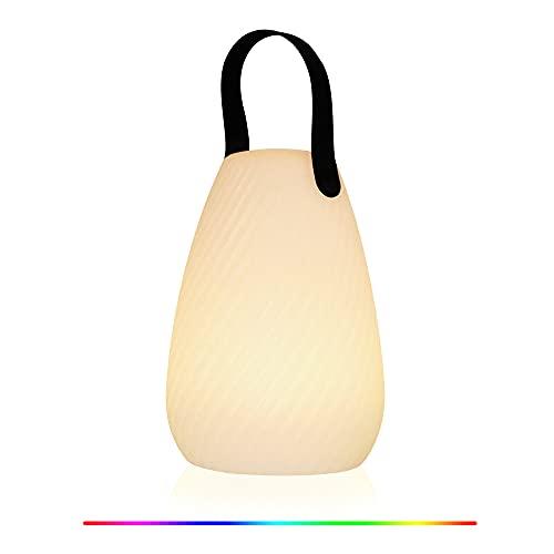 Luce notturna a LED, lampada da tavolo intelligente portatile, RGB, dimmerabile, ricaricabile tramite USB, lampada da comodino, per camera da letto, campeggio, soggiorno(Nessun telecomando)