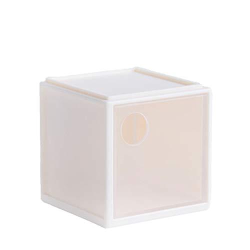 ZHPBHD Caja de Almacenamiento Cuadrado de Escritorio Combinación Gratuita con Caja de Almacenamiento de corazón Caja de Almacenamiento cosmético, 7.9x7.9x7.6cm Caja De Almacenamiento