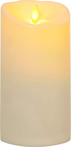 """Best Season 063-77 LED-Kerze""""Twinkle"""", Plastik, beige, 9 x 9 x 17.5 cm"""