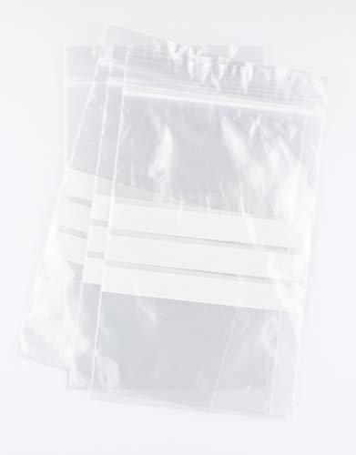 Bolsas autocierre con Franjas para Escritura 12 x 18 cm (1000 Unidades)