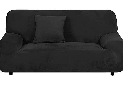 fodera per divano fodera per divano motivo floreale elasticizzato morbido elasticizzato,2-seater 57-73in_black