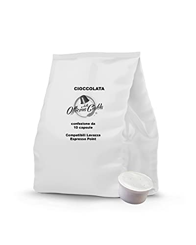 ODC Capsule compatibili con macchina da caffè sistema Lavazza Espresso Point kit formato da 100 cialde solubile Cioccolato con chiusura salva freschezza MADE IN ITALY