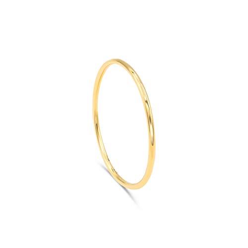 Minimalist Goldring aus 750er Gold. Goldring Damen. Simpler Goldring, Goldschmuck, 18k Gold   Stapelring, Bandring, Stapelring Damen
