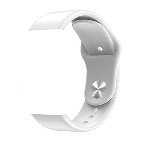 nJiaMe Reemplazo de la Correa de Reloj Elegante Reloj de la Correa de Silicona Reloj Pulsera de Silicona rápida liberación Regalos Reloj Banda Blanca
