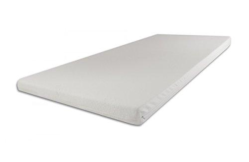 SW Bedding Viscoelastische Matratzenauflage 200 x 100 x 7cm H3 mit Bezug medicare Boxspringbett Auflage - 30 Tage Probeschlafen