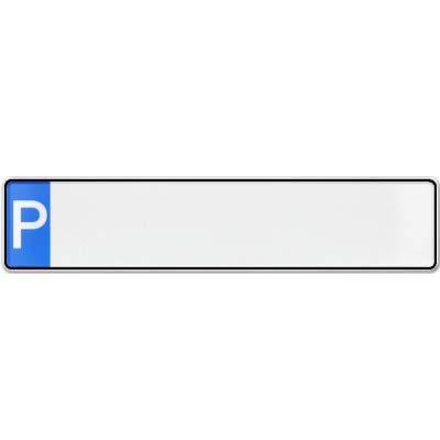 Premium 1 Stück Fun Kennzeichen 52cm x 11cm Wunschtext Individuell Wunschkennzeichen Wunschprägung bis zu 17 Zeichen Namens Kennzeichen Namensschild Geburtstag VIELE Farben (Parkplatz)