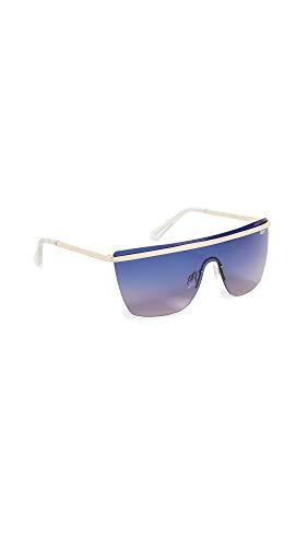 Quay Women's Get Right Sunglasses, Gold/Blue Purple, One Size