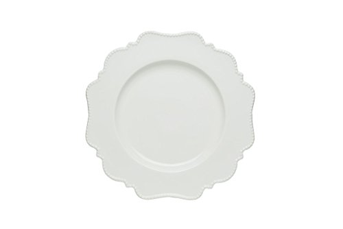 Red Vanilla Pinpoint Salad Plate, Set Of 6, 8', White